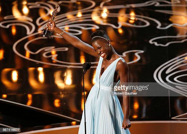 HOLLYWOOD CA – March 2 2014 Lupita N'yongo won Best Supporting Actress for 12 YEARS A SLAVEduring the telecast of the 86th Annual Academy...