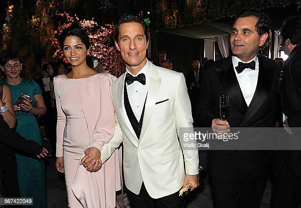 HOLLYWOOD CA March 2 2014 Matthew MacConaughey and wife Camila Alves at the Governors Ball at the 86th Annual Academy Awards on Sunday March 2 2014...