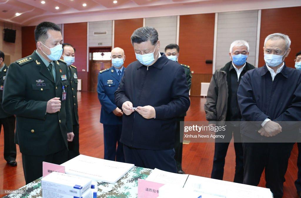 CHINA-BEIJING-XI JINPING-COVID-19-INSPECTION (CN) : News Photo