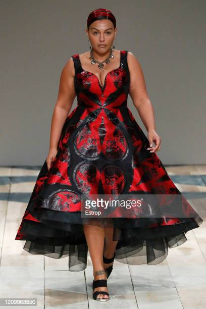 March 2: A model walks the runway during the Alexander McQueen as part of the Paris Fashion Week Womenswear Fall/Winter 2020/2021 on March 2, 2020 in...
