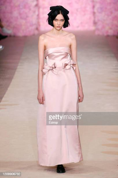 March 2: A model walks the runway during the Giambattista Valli as part of the Paris Fashion Week Womenswear Fall/Winter 2020/2021 on March 2, 2020...