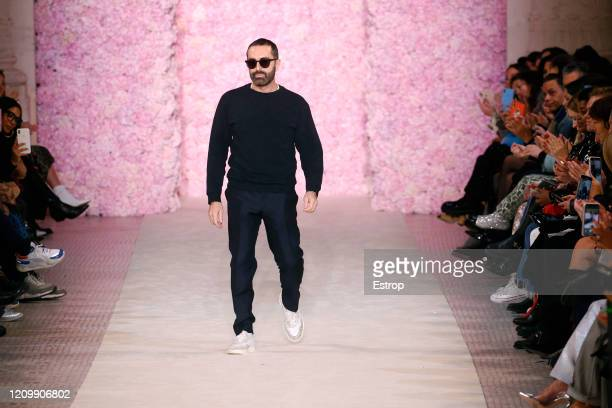 March 2: Fashion designer Giambattista Valli during the Giambattista Valli as part of the Paris Fashion Week Womenswear Fall/Winter 2020/2021 on...