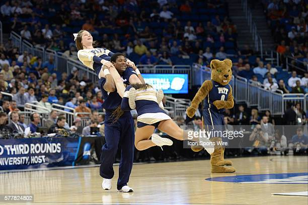 Pitt Panthers cheerleaders during the Pitt Panthers game versus the Colorado Buffaloes in the Second Round of the NCAA Division I Men's Basketball...