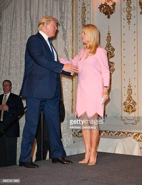 Donald Trump FL Attorney General Pam Bondi Keynote Speaker Donald Trump with guest Dr Ben Carson attend the Palm Beach Lincoln Day Dinner at MaraLago...