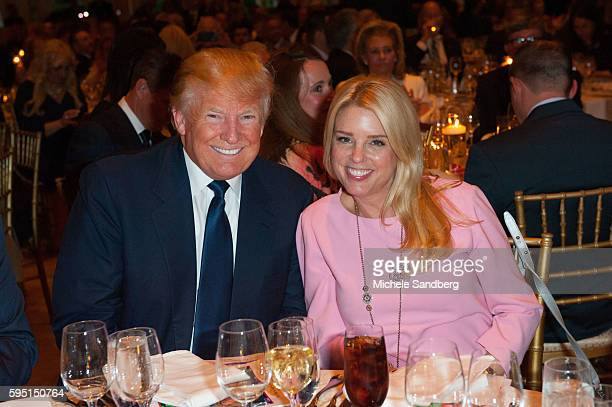 Donald Trump Pam Bondi Keynote Speaker Donald Trump with guest Dr Ben Carson attend the Palm Beach Lincoln Day Dinner at MaraLago Palm Beach Florida