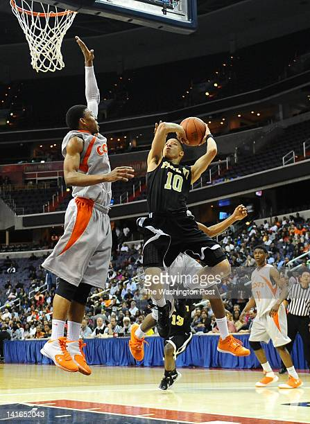 Paul VI G Patrick Holloway stops and pops a jumper during 2nd half action against Coolidge on March 20 2012 in Washington DC