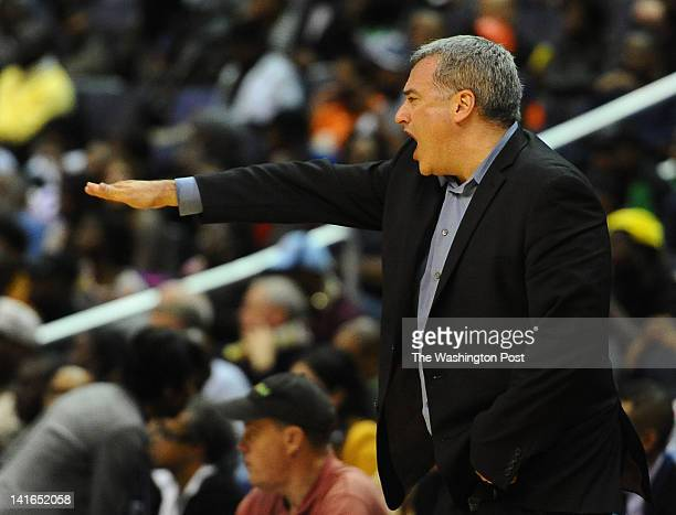 Paul VI head coach Glenn Farello works the sideline during action against Coolidge on March 20 2012 in Washington DC