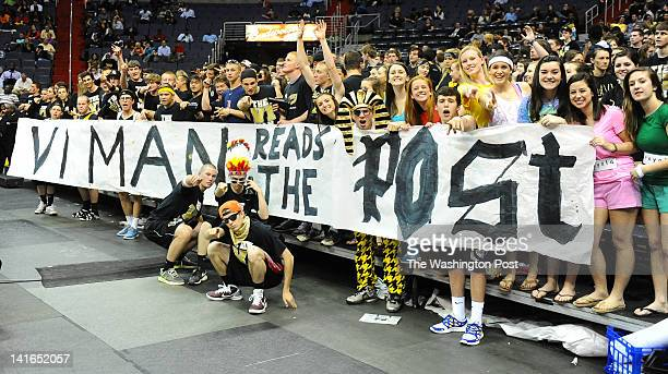 Paul VI student section informs the crowd at Verizon center that they read The Washington Post via Getty Images on March 20 2012 in Washington DC