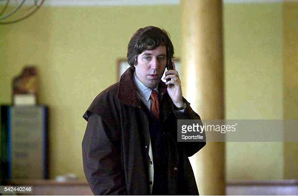 9 March 2001 John Delaney Waterford United talks on his mobile phone before an FAI senior council meeting on the future of eircom Park in the Green...