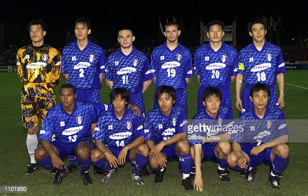 Suwon Samsung Team of Korea during the Asian Club Championship East Asia zone quarter finals match between Suwon Samsung and PSM Makassar of...
