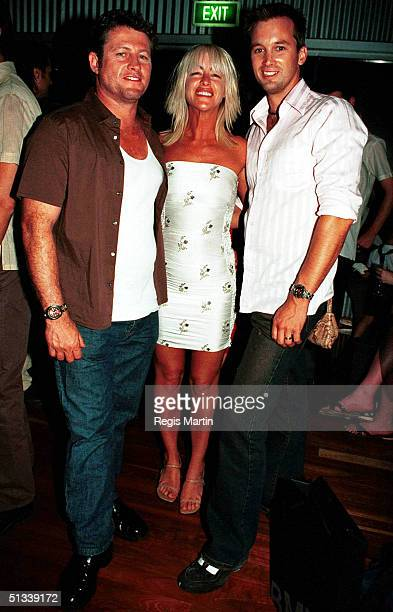 24 March 2002 Peter Phelps wife Donna Fowkes Ian Stenlake at the Omega Wrap Party for the Melbourne Fashion Festival
