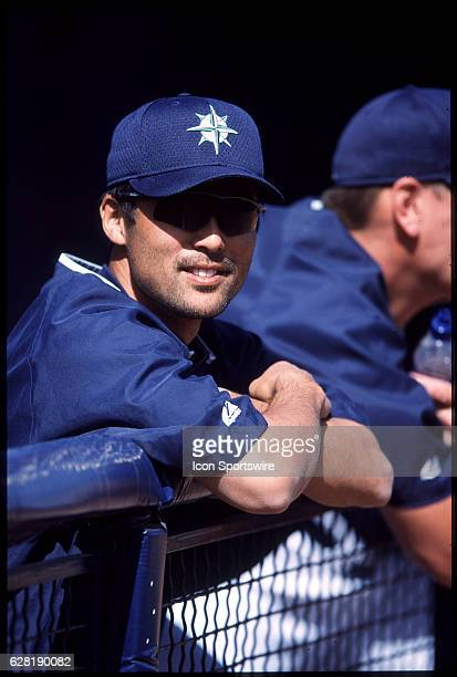 Shigetoshi Hasegawa of the Seattle Mariners during Spring Training in Peoria AZ
