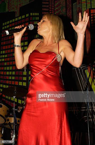 19 March 2004 AlyssaJane Cook performs at A Night With The Stars a Millennium Foundation Charity dinner held at The Westin Hotel in Sydney Australia