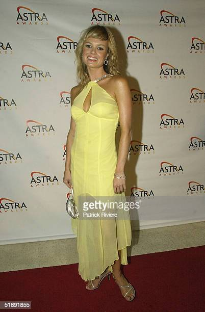 06 March 2004 Amy Erbacher at the 2004 Astra Awards at Wharf 8 in Sydney
