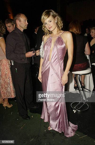 30 March 2004 Amy Erbacher at the Sydney Confidential Golden Slipper Soiree held at the Sydney Film TV Studios in Rozelle Sydney Australia