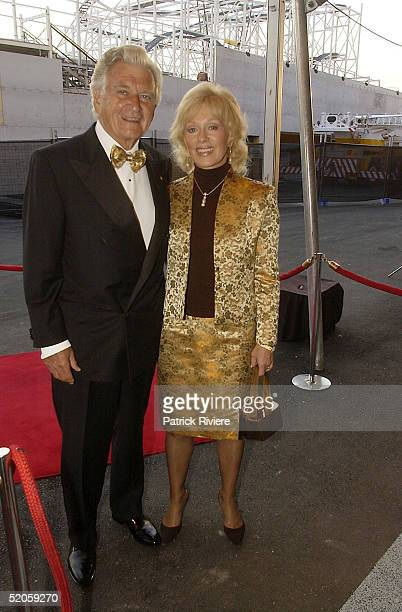 15 March 2004 Former Australian Prime Minister BOB HAWKE and wife BLANCHE D'ALPUGET The Best of The Best 2004 charity fundraiser for the Mission...
