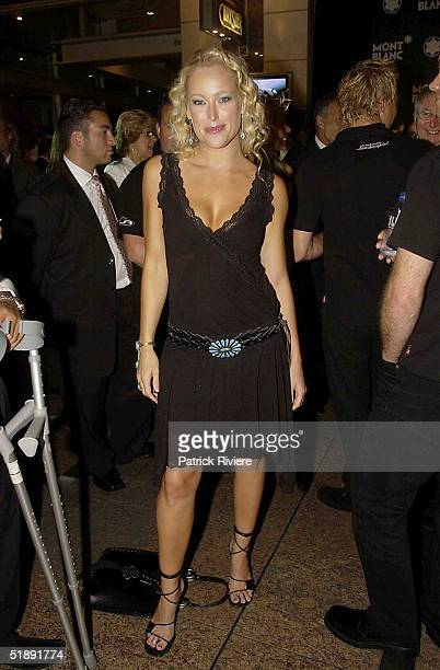 23 March 2004 model ALI MUTCH at the exclusive MONTBLANC boutique for the launch of their latest STARWALKER collection in King Street Sydney