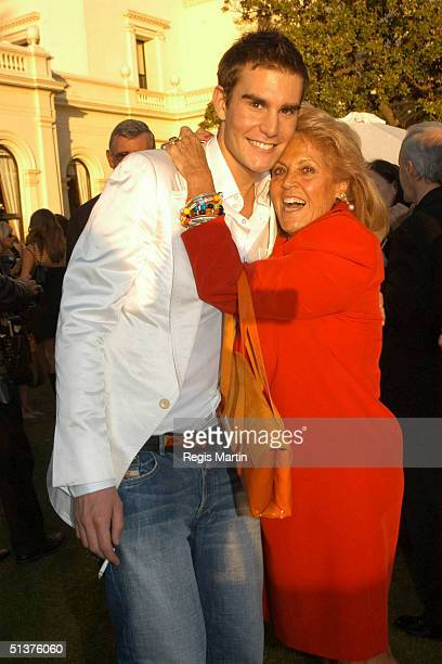 14 March 2004 OSCAR HUMPHRIES and LILLIAN FRANK at the opening party for the L'Oreal Melbourne Fashion Festival At the Victorian Government House...