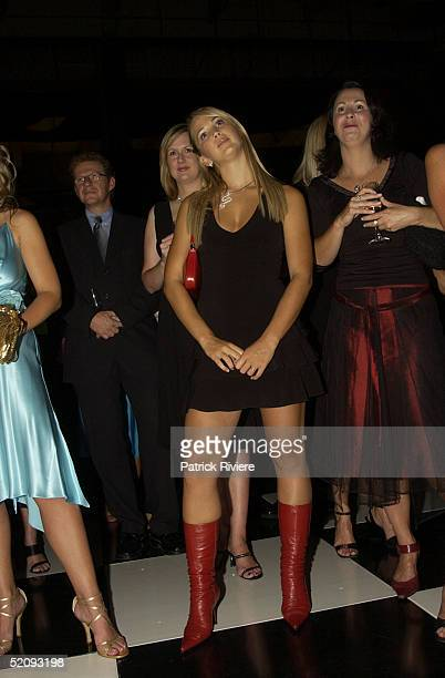30 March 2004 Rebecca Cartwright at the Sydney Confidential Golden Slipper Soiree held at the Sydney Film TV Studios in Rozelle Sydney Australia