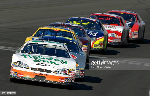Jeff Burton leads the pack during the Sam's Town 300 NASCAR Busch Grand National race at the Las Vegas Motor Speedway in Las Vegas NV