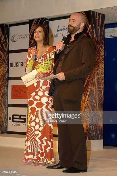 March 2007 Marina d'Or Oropesa de Mar Castellon Spain Marina d'Or Oropesa Miss Spain 2007 Contest Choice of Beauty Miss In the image the tv host Goyo...