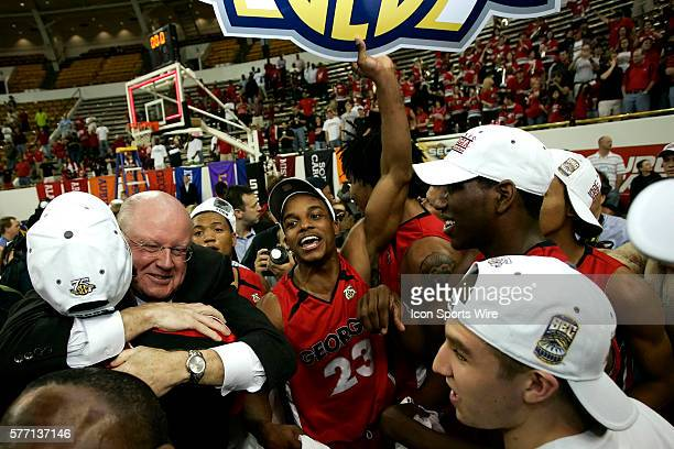 Georgia guard Corey Butler celebrates the victory in the Georgia Bulldogs 6657 victory over the Arkansas Razorbacks in the Final of the SEC...