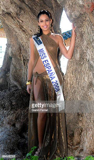 March 2008 Marina d´Or Castellon Spain Miss Spain Beauty Contest 2008 In the image Patricia Yurena Rodriguez Miss Tenerife and Miss Spain