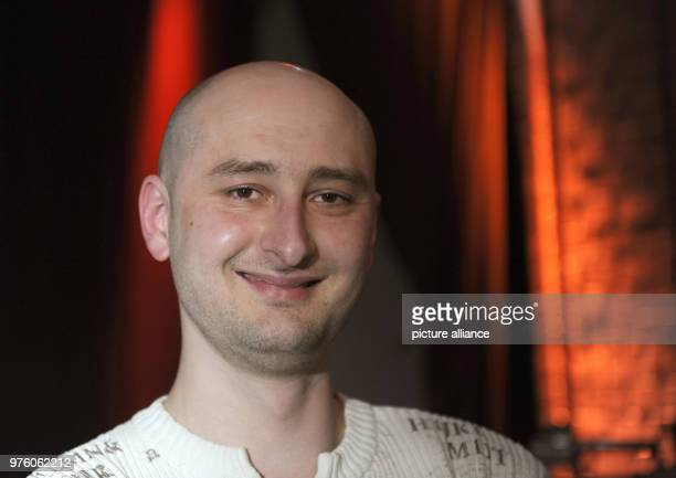 Author Arkady Babchenko pictured during a reading at the 'LitCologne' festival of literature A police spokesperson of the Ukrainian police confirmed...