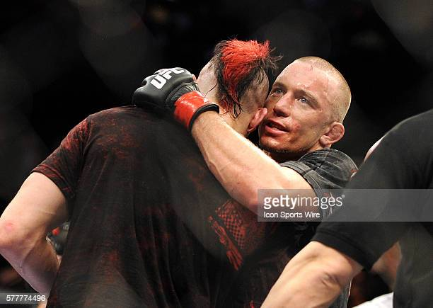 UFC 111 in at the Prudential Center George Rush St Pierre Vs Dan the Outlaw Hardy St Pierre defeates Hardy by unanimous decision
