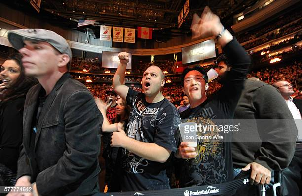 UFC 111 in at the Prudential Center George Rush St Pierre Vs Dan the Outlaw Hardy St Pierre defeates Hardy by unanimous decision Fans cheer as St...