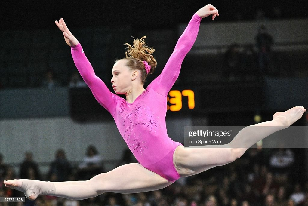 floor gymnastics splits. Floor Gymnastics Splits. American Gymnast Rebecca Bross Leaps High In The  Air And Does A Splits