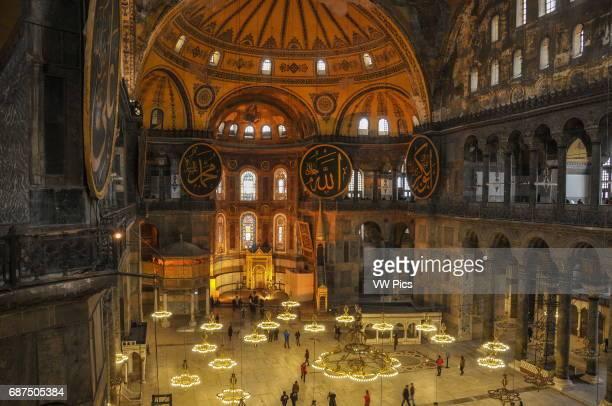 1 March 2011 Hagia Sofia museum Istanbul Turkey The Interior of Hagia Sofia Hagia Sofia is a worldfamous monument originally a Byzantine christian...