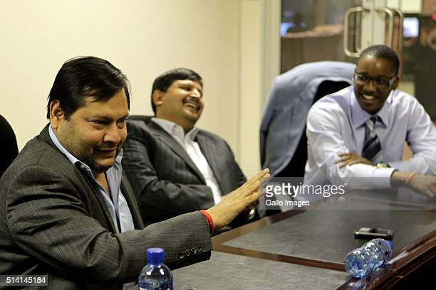 Indian businessmen Ajay and Atul Gupta and Sahara director Duduzane Zuma speak to the City Press from the New Age Newspaper's offices in Midrand...