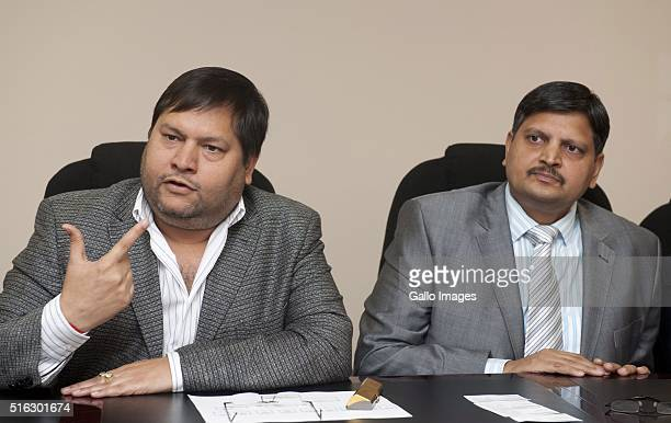 Indian businessmen Ajay Gupta and younger brother Atul Gupta at a one on one interview with Business Day in Johannesburg South Africa on 2 March 2011...