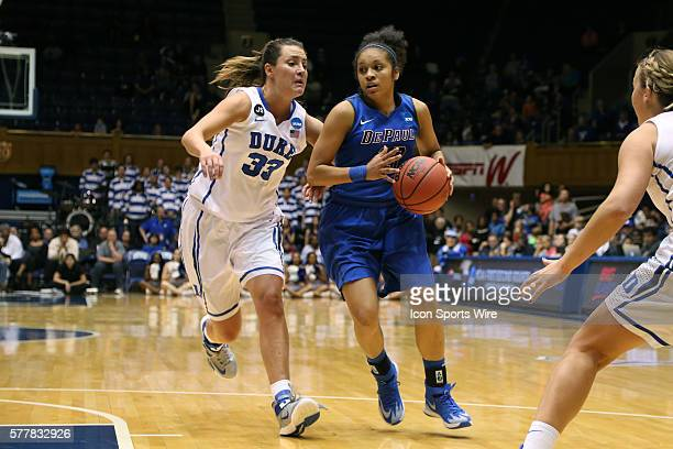 DePaul's Chanise Jenkins and Duke's Haley Peters The Duke University Blue Devils played the DePaul University Blue Demons in an NCAA Division I...