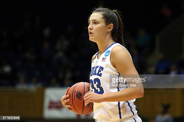 Duke's Haley Peters The Duke University Blue Devils played the DePaul University Blue Demons in an NCAA Division I Women's Basketball Tournament...