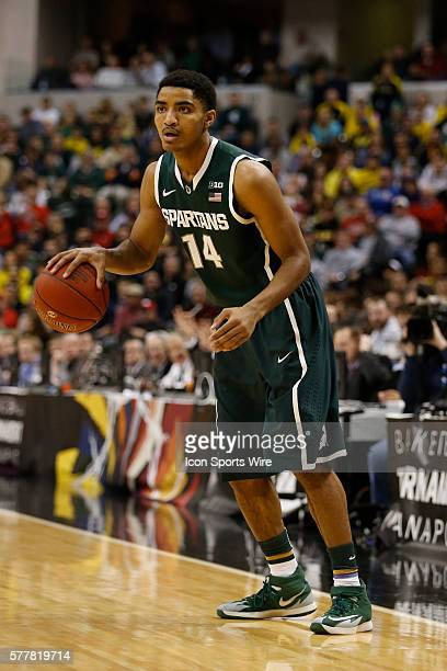 Michigan State guard Gary Harris during the Big Ten Championship basketball game between the Michigan Wolverines vs Michigan State Spartans at...