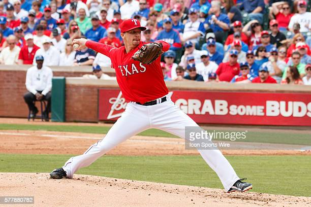 Texas Rangers Starting pitcher Tanner Scheppers [7905] in action during the MLB Opening Day game between the Texas Rangers and Philadelphia Phillies...