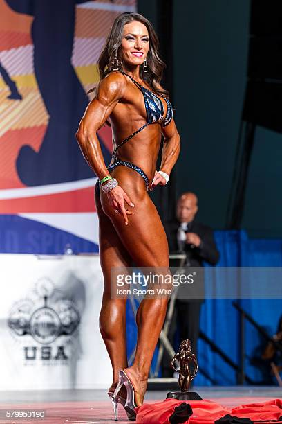 Azusena Cardenas is crowned Figure F Champion at the Arnold Amateur Bodybuilding Fitness Figure Bikini and Physique Championships as part of the...