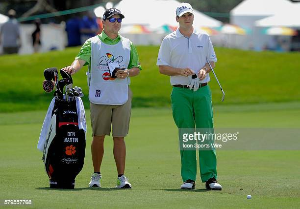 Ben Martin and his caddie on the first hole of the day during the final round of the Arnold Palmer Invitational at Arnold Palmer's Bay Hill Club...