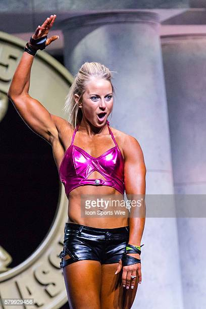 Brittany White competes in Women's Fitness as part of the Arnold Amateur Bodybuilding Fitness Figure Bikini and Physique Championships at the Arnold...