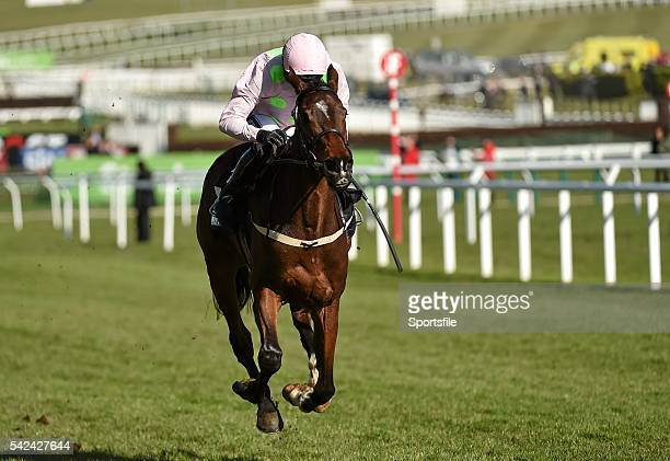 10 March 2015 Douvan with Ruby Walsh up on the way to winning the Supreme Novices' Hurdle Cheltenham Racing Festival 2015 Prestbury Park Cheltenham...