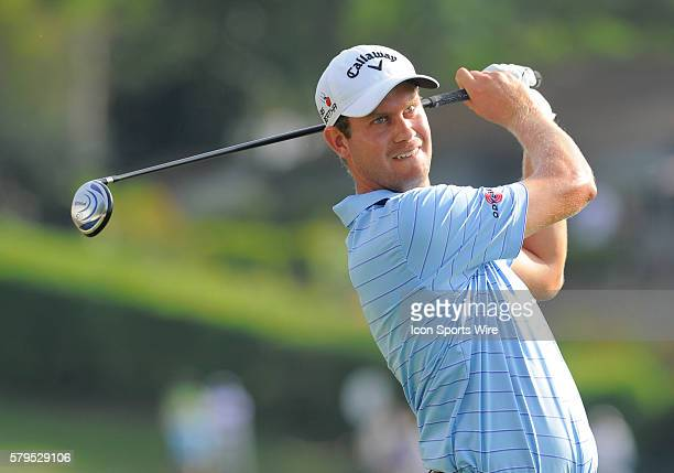 Harris English18th tee during the third round of the Arnold Palmer Invitational at Arnold Palmer's Bay Hill Club Lodge in Orlando Florida