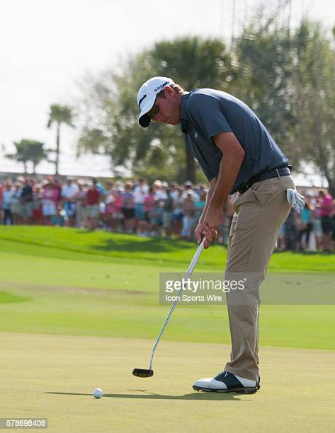 Jim Herman Florida swings in on the 18th Hole in the Third round of The Honda Classic at PGA National Resort Spa Champion Course in Palm Beach...