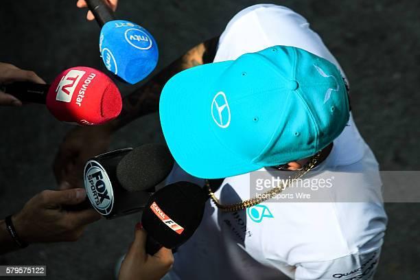 Lewis Hamilton of Mercedes AMG Petronas F1 Team at the paddock of the Formula 1 Petronas Malaysia Grand Prix held at Sepang International Circuit in...