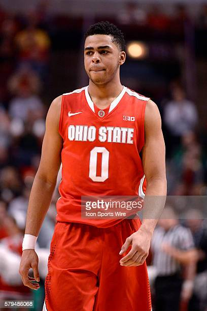 Ohio State Buckeyes guard D'Angelo Russell in action during a game between the Michigan State Spartans and the Ohio State Buckeyes in the Big Ten...