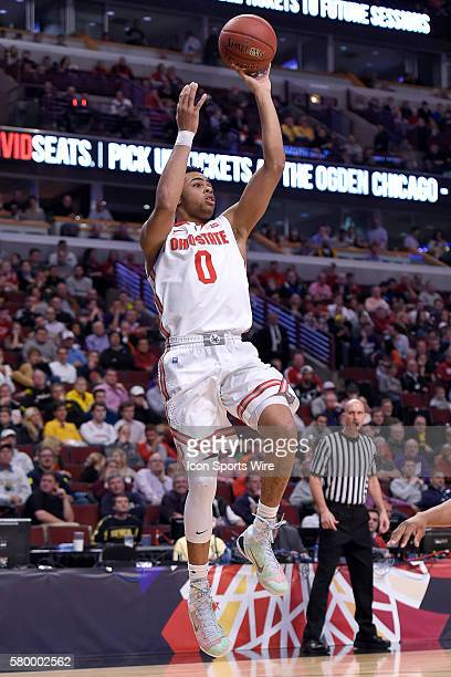Ohio State Buckeyes guard D'Angelo Russell in action during a game between the Ohio State Buckeyes and the Minnesota Golden Gophers in the Big Ten...