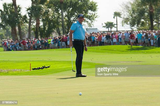 Phil Mickelson CA at the 18th Hole in the Third round of The Honda Classic at PGA National Resort Spa Champion Course in Palm Beach Gardens FL