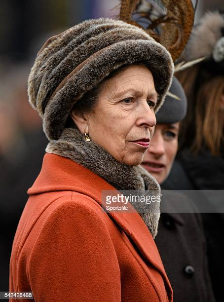 13 March 2015 Princess Anne in attendance at the day's racing Cheltenham Racing Festival 2015 Prestbury Park Cheltenham England Picture credit Ramsey...