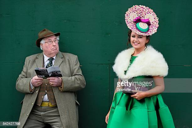 11 March 2015 Racegoers Jennifer Wrynne from Mohill Co Leitrim and Derek Duncan from Bedford at the day's races Cheltenham Racing Festival 2015...